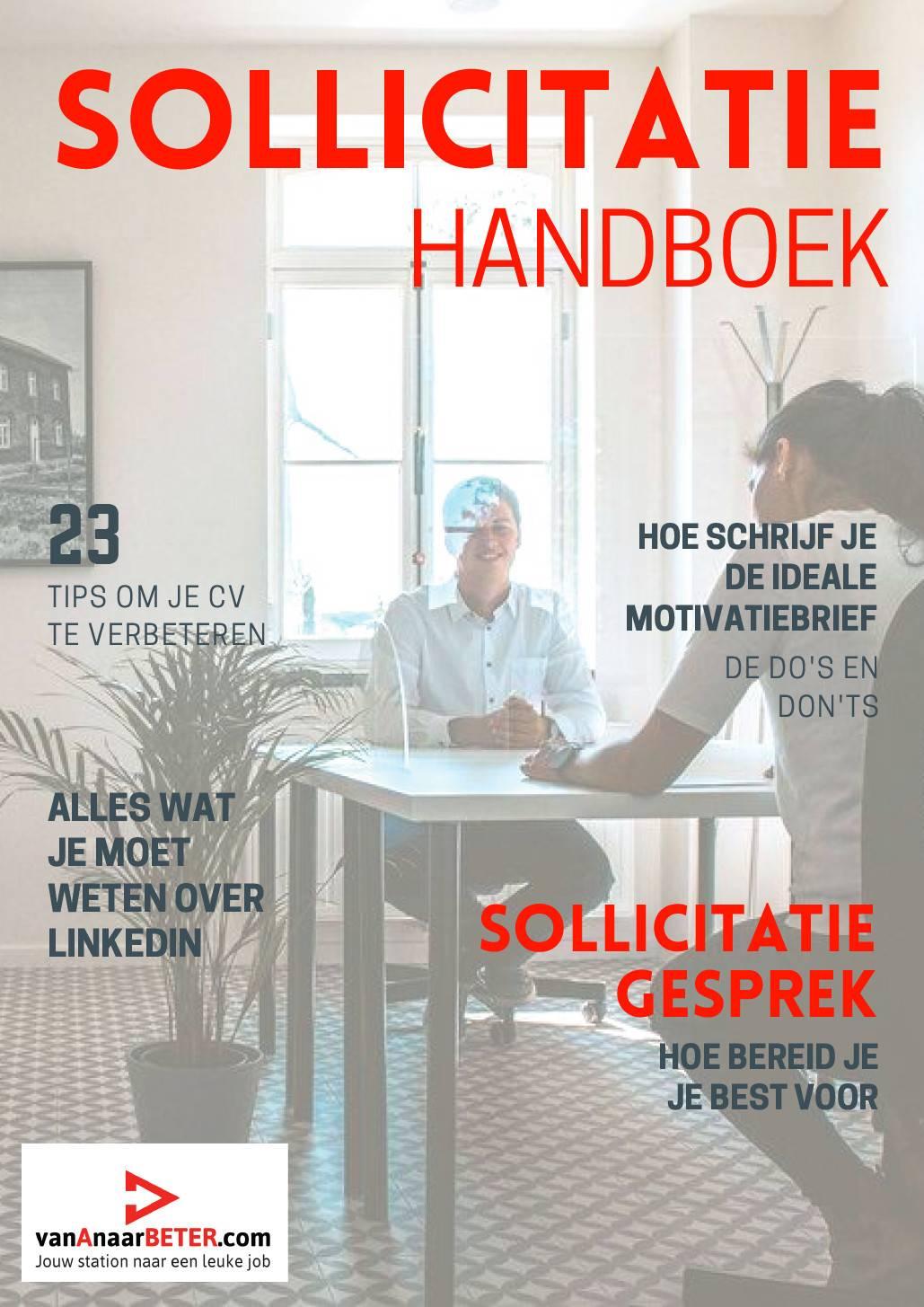 sollicitatie handboek en tips